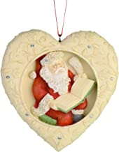 Enesco Heart of Christmas Checking His List Hanging Ornament, 2.95 Inch, Multicolor