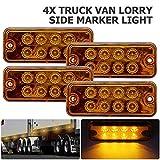 MASO 4pcs luci di posizione laterali 12 V/24 V universale indicatore di luci di posizione LED, luci anteriori con arancione ambra lampadine per camion caravan Van camion auto Bus