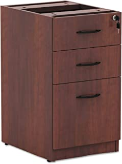 Alera Valencia Series 16 by 22 by 28-Inch 2 Box and 1 File Drawer Full Pedestal, Medium Cherry