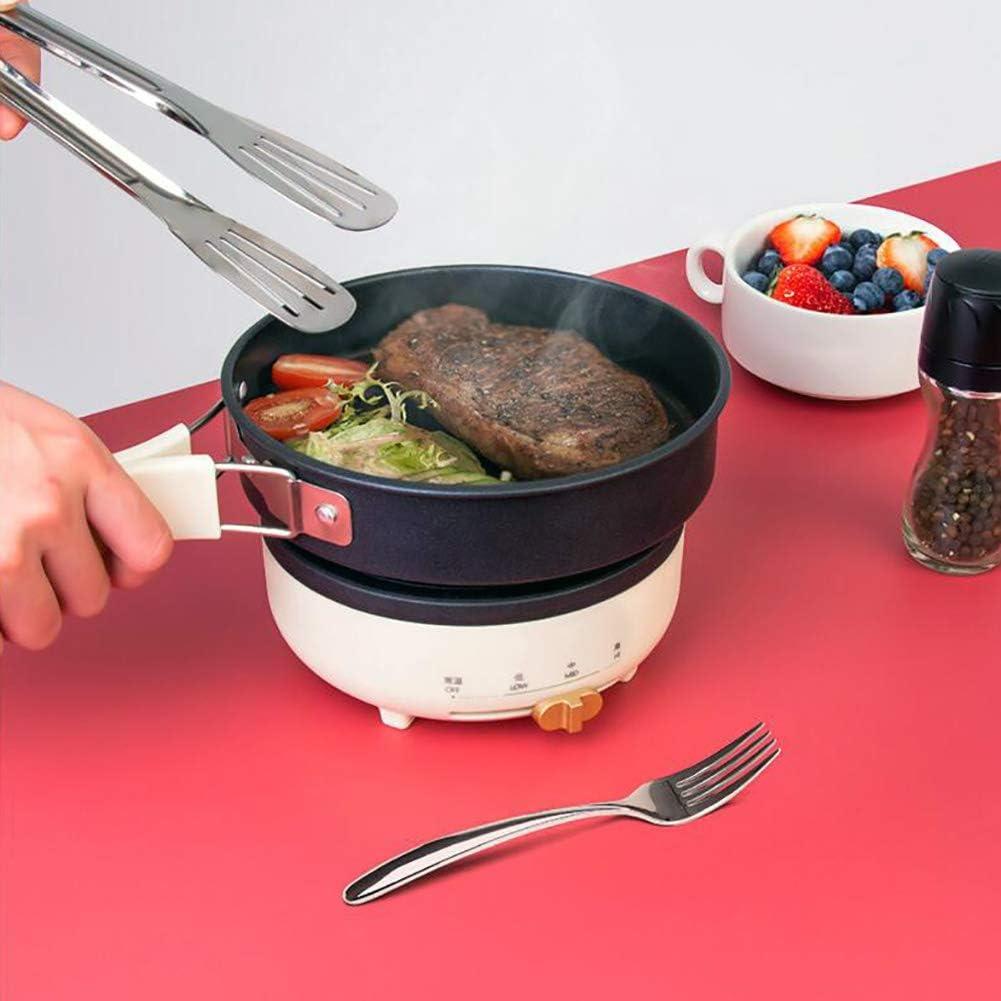 1-2 Personne électrique Foldble Voyage multicuiseur de Split Pot decocting Hot Pot Accueil Portable Frying Pan mijoteuse,Noir Beige