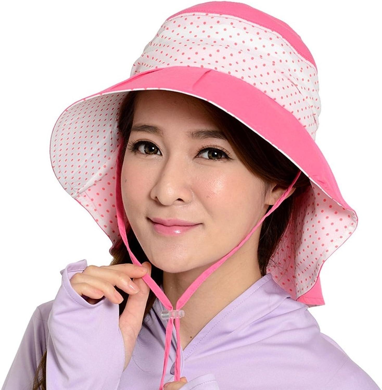 HAIPENG Cap Korean Version Summer Sun Cap Wide Brimmed Hat Female Sandy Beach Pink Sun Hat