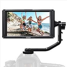 Monitor de Campo-ESDDI F5 Monitor de Cámara de 5 Pulgadas con Entrada 4K Resolución HDMI 1920 x 1080 Incluye Batería Recargable de Li-ion Cargador de Batería USB Asistencia para Cámaras Canon y Nikon