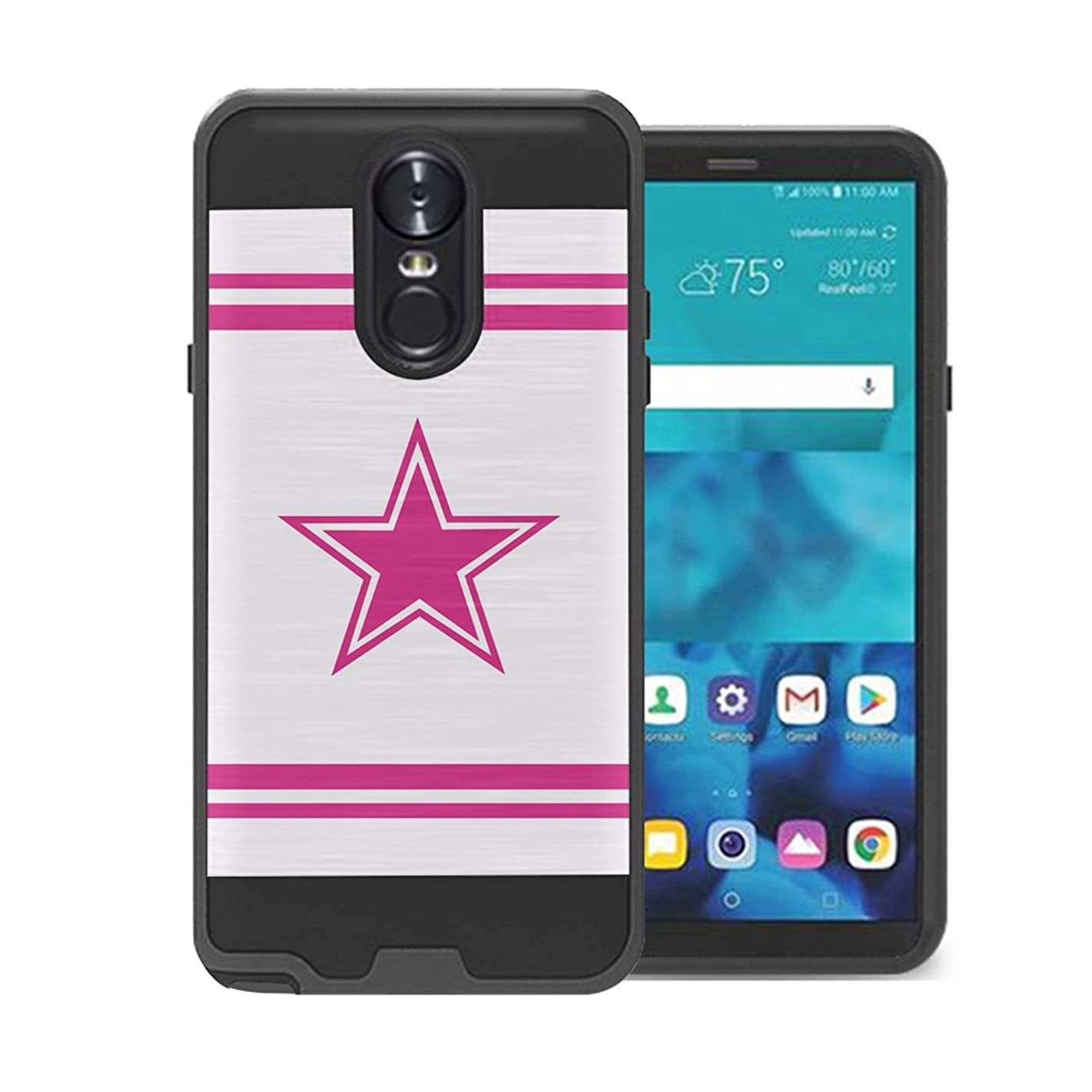 Izumi Case Compatible with LG Stylo 4 Plus, LG Stylo 4, LG Q Stylus [Hybrid Fusion Supports Wireless Charging Dual Layer Slick Armor Case Black] for LG Stylo 4 - (Pink Cowboy)