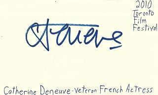 Autographs-original Catherine Deneuve Signed Index Card Signature Autographed Auto