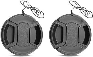 M50 Lens Cap 49mm for Canon M50 M100 w/ 1.8STM 15-45mm Lens, for Sony RX1R NEX-7 5N w/SEL 18-55mm 55-210mm Lens (2 Packs)