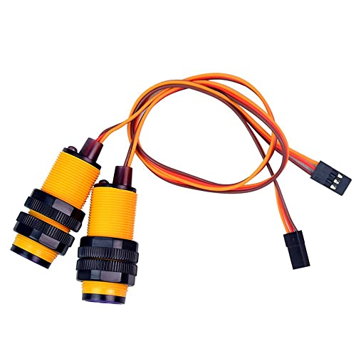 XiaoR Geek 2 PCS Line Sensor Infrared Obstacle Avoidance Sensor Module Adjustable Distance Photoelectric Switch for Arduino/Raspberry pi Smart Robot Car