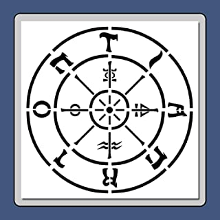 7 X 7 inch Tarot Wheel of Fortune Stencil Template Major Arcana/Mystical/Divination/Supernatural