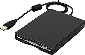 Nrpfell USB Floppy Drive 3.5inch USB External Floppy Disk Drive Portable 1.44 MB FDD USB Drive Plug and Play for PC Windows 10 7 8 Windows XP Vista Mac Black