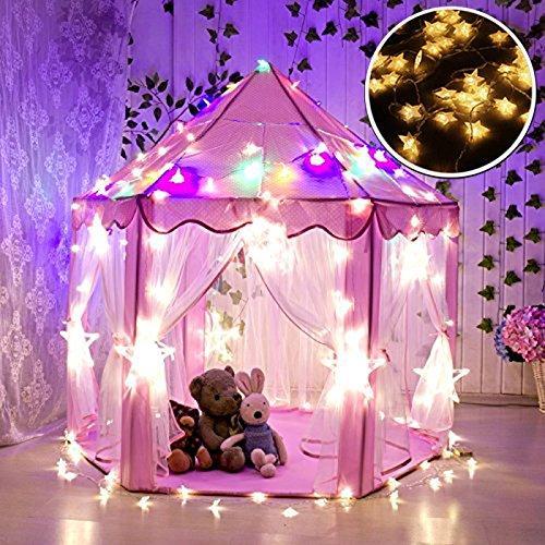 Tienda Campaña Infantil, WER carpa plegable para niños en forma de castillo...