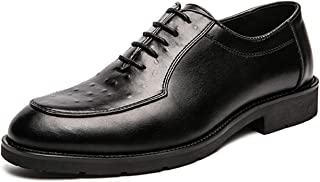 Zapatos casuales Zapatos de Oxford de los Hombres, Delantal de encaje y Color Casual Sólido Toe pulido, Bloque en relieve ...