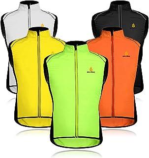 Wolfbike Cycling Jacket Jersey Vest Wind Coat Windbreaker Jacket Sportswear Outdoor (Vest-Green, Large)
