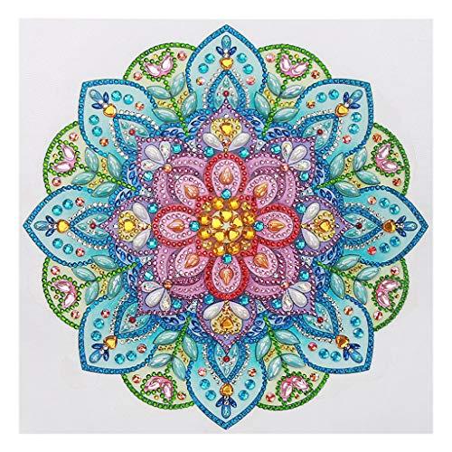 VETPW DIY 5D Diamante Pintura Kit, Flores de Mandala Bricolaje Diamond Painting Bordado De Punto De Cruz Diamante Arts Craft para Decoración de la Pared del Hogar (30x30CM)