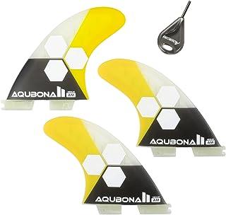AQUBONA FCS II AM FINS Surfboard Fiberglass Fins for Surfing with Fin Bag, Screws and Fin Key(Small, Medium, Large Sets.)