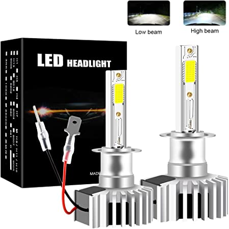 9005 sanlinkee 9005//HB3 LED Headlight Bulb,12000LM 60W LED Car Headlight Conversion Kit 6000K Cool White Lamp for Car Head Lamps 1:1 Design Car Replacement Lights of Halogen and Xenon Kit Pack of 2