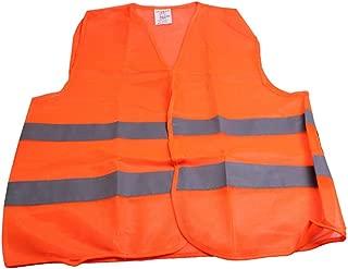 EdBerk74 Chaleco Reflectante de Advertencia Ropa de Trabajo Alta Visibilidad D/ía Noche Chaleco Protector para Correr Ciclismo Seguridad Vial
