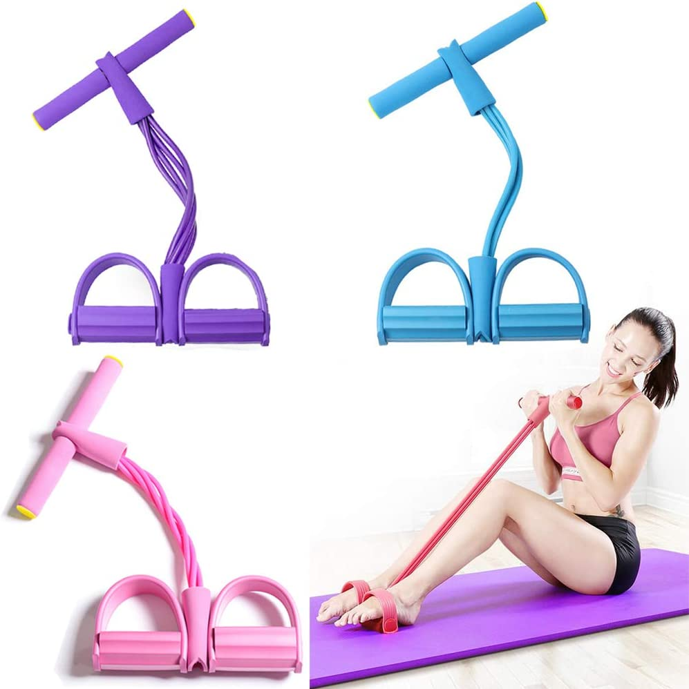 Resistance Bands 100% quality warranty Exercise 4-Tube Yoga Strap R Elastic Pull Spring new work one after another