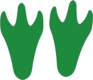 LiteMark Grass Green Durable Dinosaur Track Floor Footprint Stickers - Pack of 12