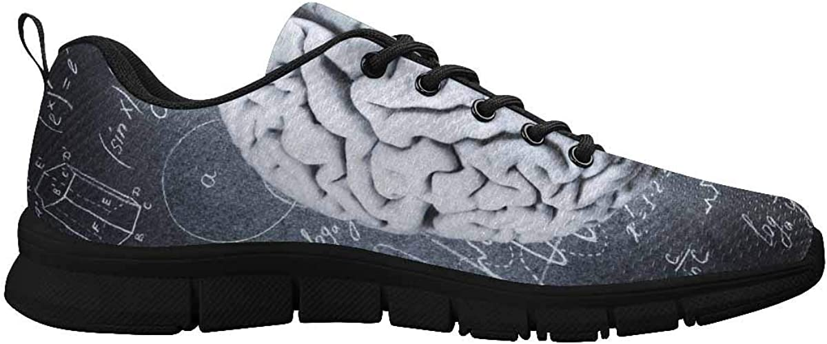 InterestPrint The Human Brain of Physical Women Walking Shoes Comfortable Lightweight Work Casual Travel Sneakers