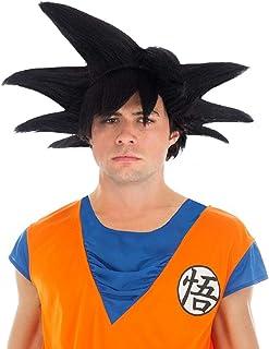 Chaks Dragon Ball Peluca Goku Sayajin Accesorio Traje Negro