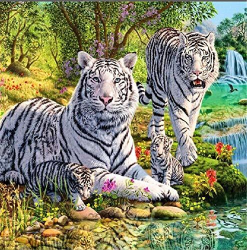 White Tiger  de madera de 1000 piezas  educativo de descompresión para niños adultos