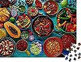 DFGJ Rompecabezas para Adultos, 6000 Piezas, Mezcla de Comida Mexicana, Rompecabezas de Fondo Colorido, Rompecabezas, Juguetes educativos para niños (218 * 105 cm)