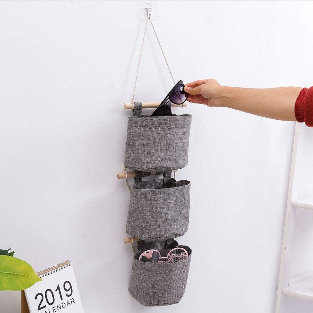 Alapaste Cotton Linen Fabric Wall Door Closet Organizer Hanging Storage Bag Pouch Pockets for Room Bathroom Decoration Pockets