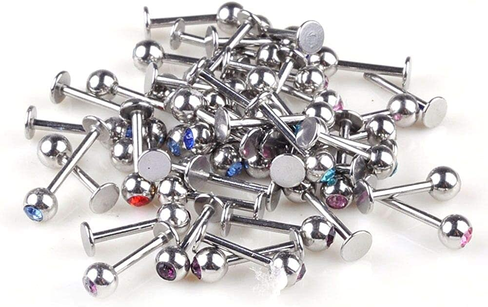 UkrGoods 10pcs/16G Ball Labret Lip Chin Rings Nose Ear Bars Stud Stainless Steel Body Cheap Unique for Gift Popular Stylish Creation Decoration Fashion Trendy Best