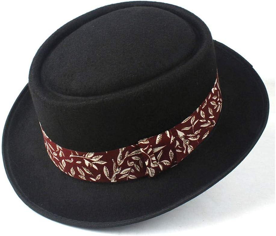 HHHCM-US Fashion Men Women Pork Pie Dad Wool Inexpensive Hat Cloth Fedo trend rank with