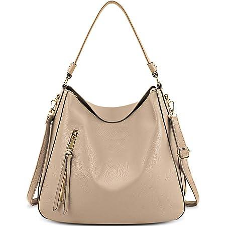 NEWHEY Handtasche Damen Leder Umhängetasche Damen Gross Hobo Taschen Schultertasche Mode Henkeltaschen Mit Abnehmbar Schulterriemen