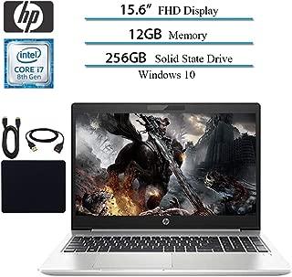 2019 Newest HP Probook 450 G6 Full HD 1920x1080 Flagship Premium Business Laptop, Intel 4-Core i7-8565U, 12GB RAM, 256GB SSD, Bluetooth, Webcam, Win 10 pro w/ Hesvap Accessories