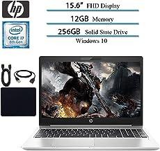 $889 Get 2019 Newest HP Probook 450 G6 Full HD 1920x1080 Flagship Premium Business Laptop, Intel 4-Core i7-8565U, 12GB RAM, 256GB SSD, Bluetooth, Webcam, Win 10 pro w/ Hesvap Accessories