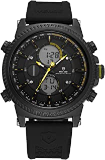 WEIDE WH6403 Quartz Digital Electronic Watch Dual Time Month Date Week Second Minute Hour Display 3ATM Waterproof Timer Bu...