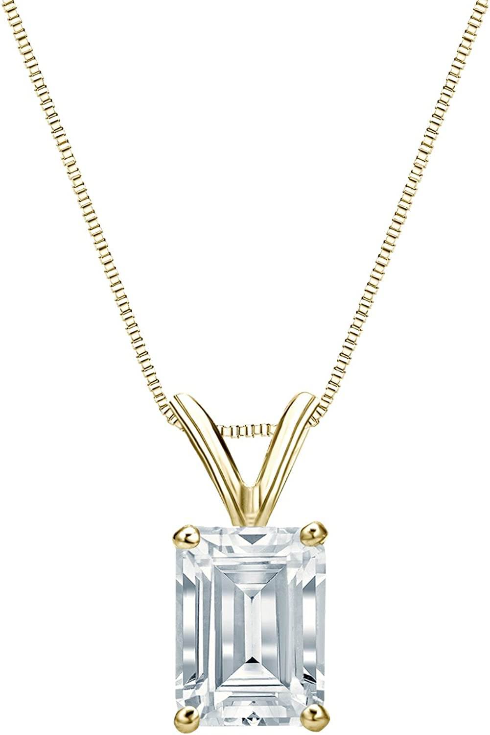 IGI Certified 14k Yellow Gold Los Angeles Mall 4-Prong Shipping included Diamond Emerald-Cut Basket
