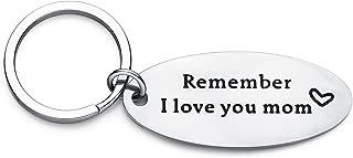 remember i love you mom keychain