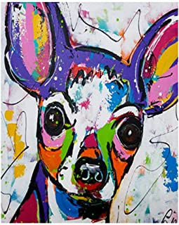 Paint by Number Kits Doodle dog DIY Digital Oil Painting Canvas Kits for Kids Adults Beginner Draw Artwork Paintings 16x20...