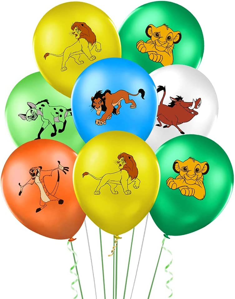 30 Pieces Lion King Balloons Party Supplies Decorations, 12
