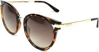 89c06b9d86 Guess Coupe ronde à lunettes de soleil cateye en miroir de la Havane brun  foncé GU7529