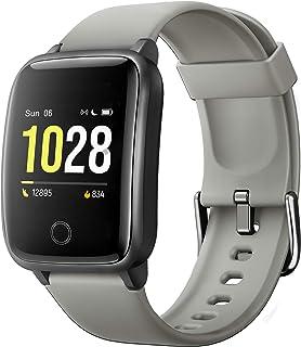 Fitpolo - Reloj inteligente para mujer, hombre, niño, impermeable, pulsera conectada con pantalla colorida, reloj inteligente, podómetro, sueño, despertador, notificaciones para iPhone, Huawei, Samsung, Xiaomi y Sony