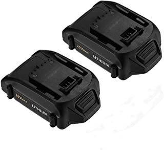 Powerextra 2 Pack 20v 2.5Ah Replacement Lithium Battery Compatible with Worx Cordless Power Tools Series WA3525 WG151s (Worx 20v 2Pack)