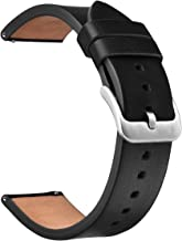 V-MORO Black Band Compatible with Galaxy Watch 46mm Band/Gear S3 Classic/Frontier Bands 22mm Leather Strap with Stainless Steel Buckle for Samsung Galaxy Watch 46mm R800/Gear S3 Smartwatch