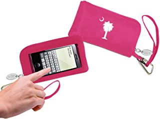 Cell Phone Wallet - Pink - Palmetto Tree & Moon