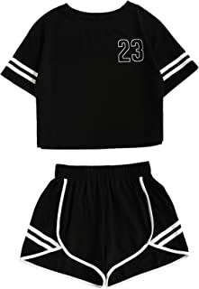 Women's Casual Shorts and Crop Top Set