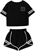 Floerns Women's Casual Shorts and Crop Top Set