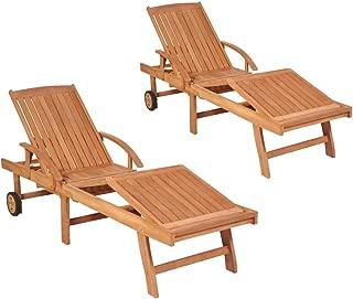 wooden sunbeds loungers
