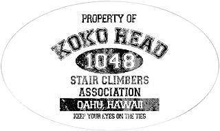 CafePress Property of Koko Head Stair Climbers Association S Oval Bumper Sticker, Euro Oval Car Decal
