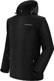 Men's Fleece Lined Softshell Jacket with Detachable Hood, Waterproof, Breathable, 8000mm/5000gm,...