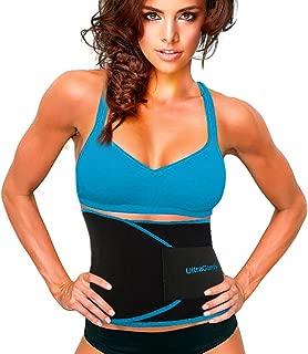 UltraComfy Waist Trainer Waist Trimmer AB Belt Sweat Belt Promotes Weight Loss Burn Calories Boosts Metabolism