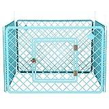Iris Ohyama, Welpenauslauf / Hundelaufstall, 0.8 m², 4 Elemente, Tür mit Verschlussriegel, Stangen für einfache Montage und Demontage, wetterbeständig, für Hund - Pet Circle