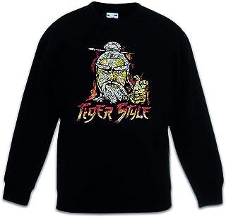 Urban Backwoods Tiger Style Sudadera Suéter para Niños Niñas Pullover Schwarz