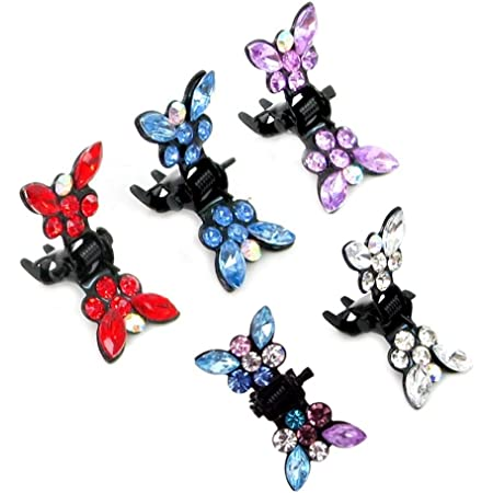 Frcolor 20 unids Pelo Flequillo Clip de Garra Mariposa Mini Pinzas de Pelo Clamp Jaw Barrette Headwear